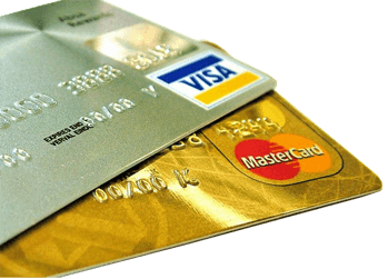 Two cards — visa and mastercard